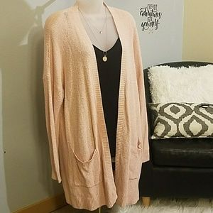 NWOT - Mossimo pink knit cardigan